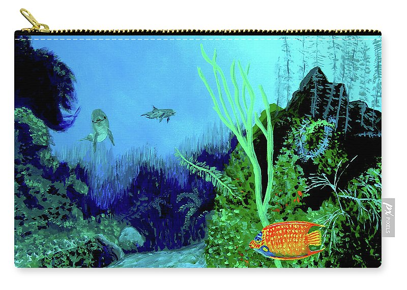Wildlife Carry-all Pouch featuring the painting Underwater by Stan Hamilton