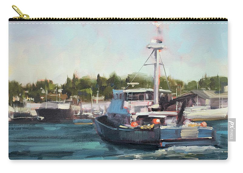 Boats Carry-all Pouch featuring the painting Underway by Charles Thomas Fine Art