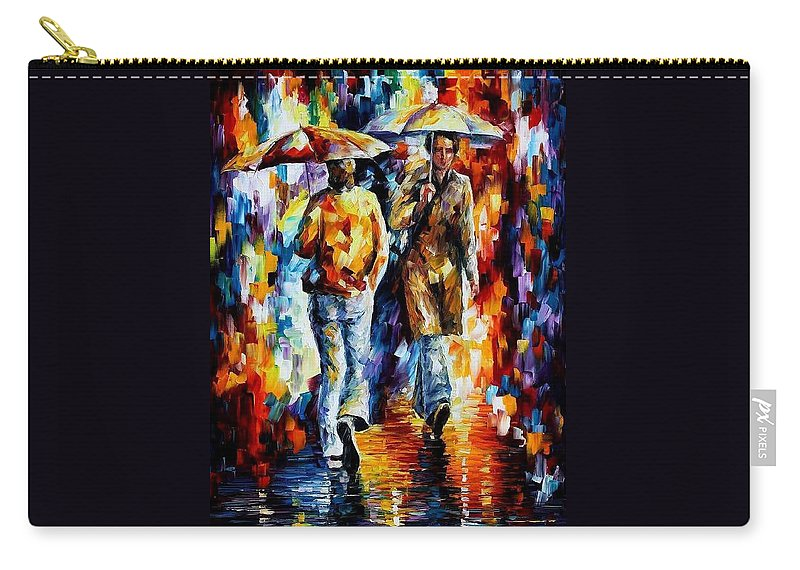 Afremov Carry-all Pouch featuring the painting Unexpected Meeting by Leonid Afremov