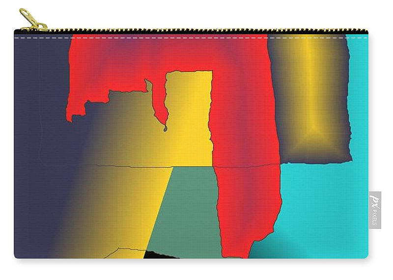Red Carry-all Pouch featuring the digital art Unexpected- Red by Helmut Rottler