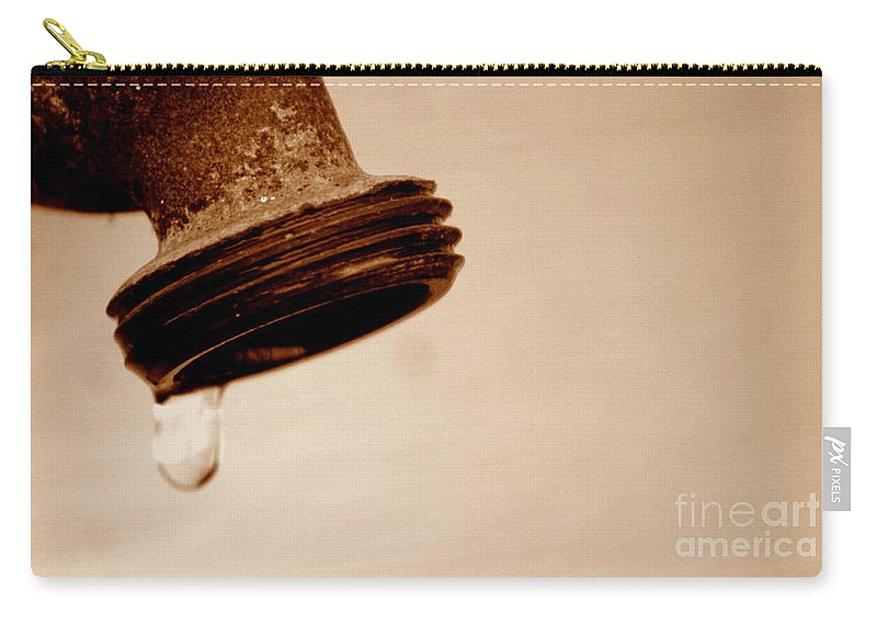 Faucet Carry-all Pouch featuring the photograph Unfiltered by Jennifer Diaz