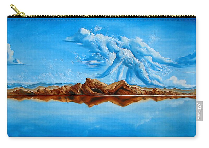 Surrealism Carry-all Pouch featuring the painting Unfinished Business by Darwin Leon