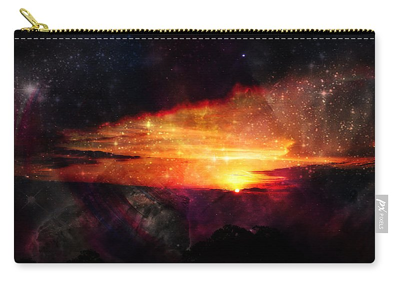 Unfolding Carry-all Pouch featuring the photograph Raising The Curtain by Nilu Mishra