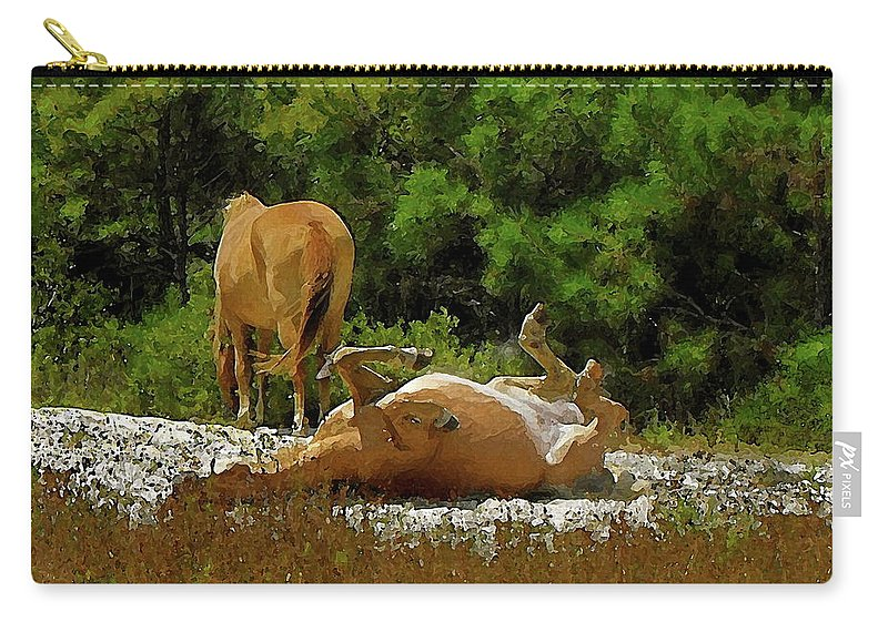 Assateague Island Carry-all Pouch featuring the photograph Unimaginable Joy by Anthony Pelosi