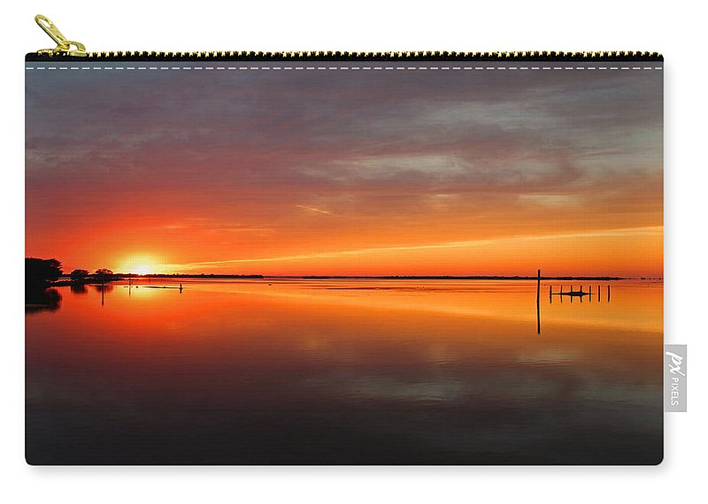 Sunset Carry-all Pouch featuring the photograph Unimagined Passion by Michiale Schneider
