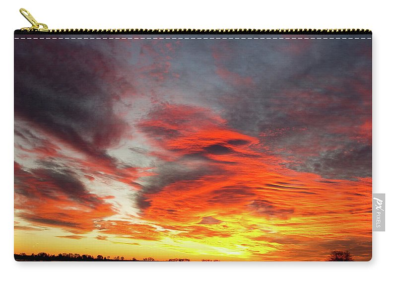canvas Print Carry-all Pouch featuring the photograph Union Lake Sunrise Feb 14th 2011 - Longmont - Boulder County - C by James BO Insogna