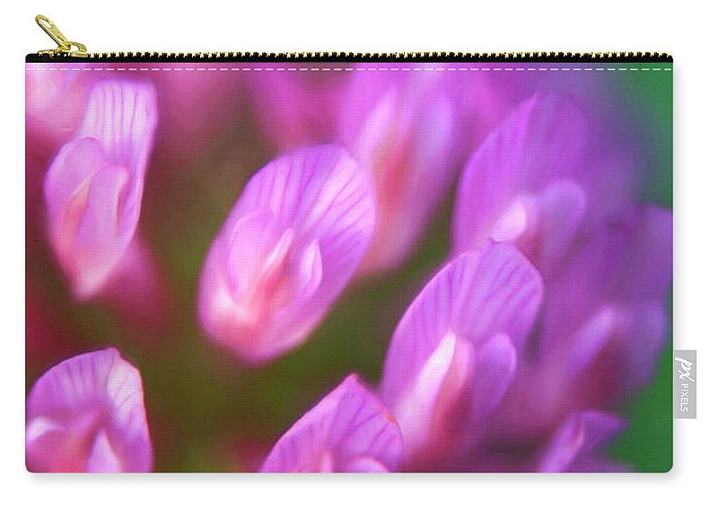 Flowers Carry-all Pouch featuring the photograph Unique Glimpse by Elliot Stombaugh