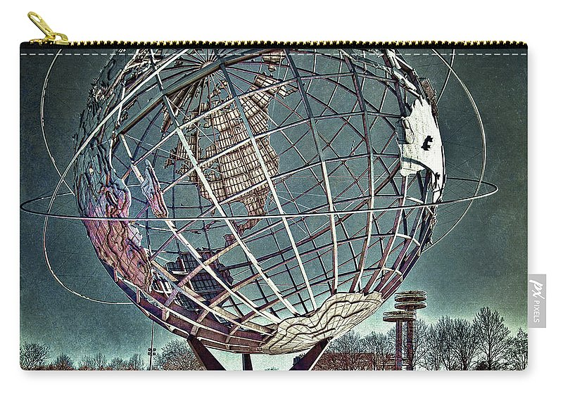 Unisphere Carry-all Pouch featuring the photograph Unisphere by Chris Lord
