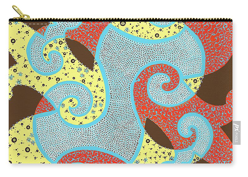 Abstract Carry-all Pouch featuring the painting United by Louise Hankes