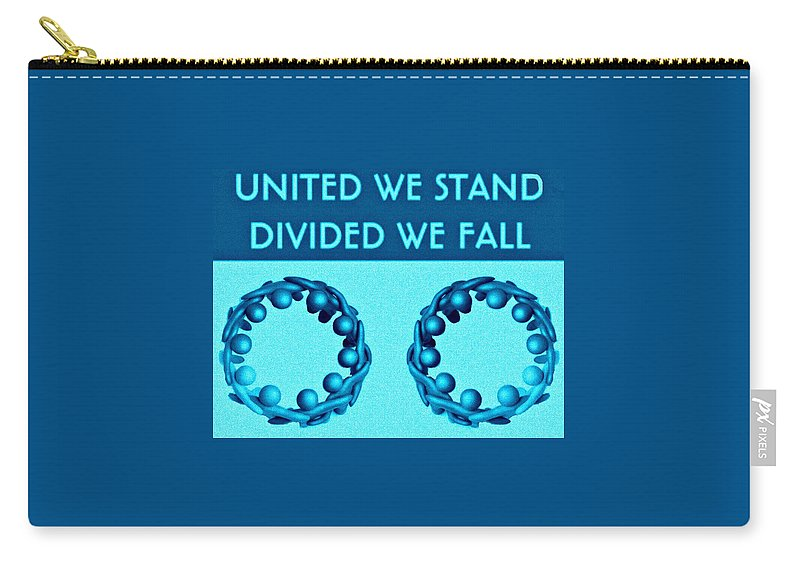 United Carry-all Pouch featuring the digital art United by Meiers Daniel