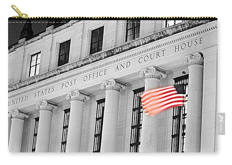 Architecture Carry-all Pouch featuring the photograph United States Flag by Jill Reger