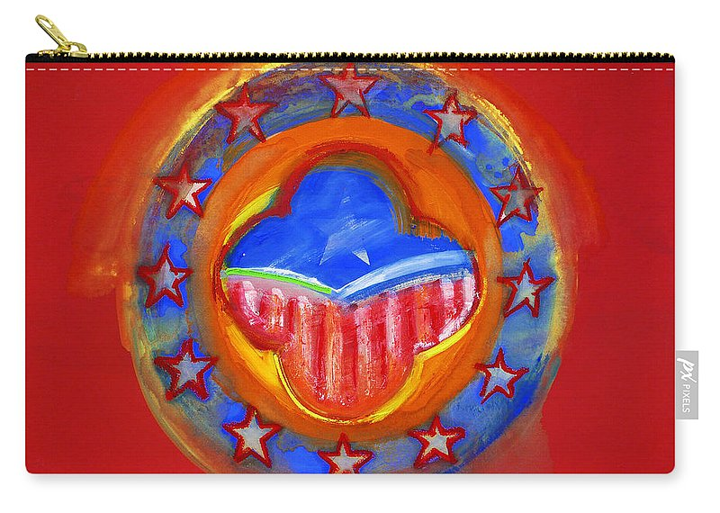 Symbol Carry-all Pouch featuring the painting United States Of Europe by Charles Stuart