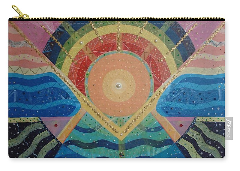 Unity Carry-all Pouch featuring the mixed media Unity I Oneness by Helena Tiainen