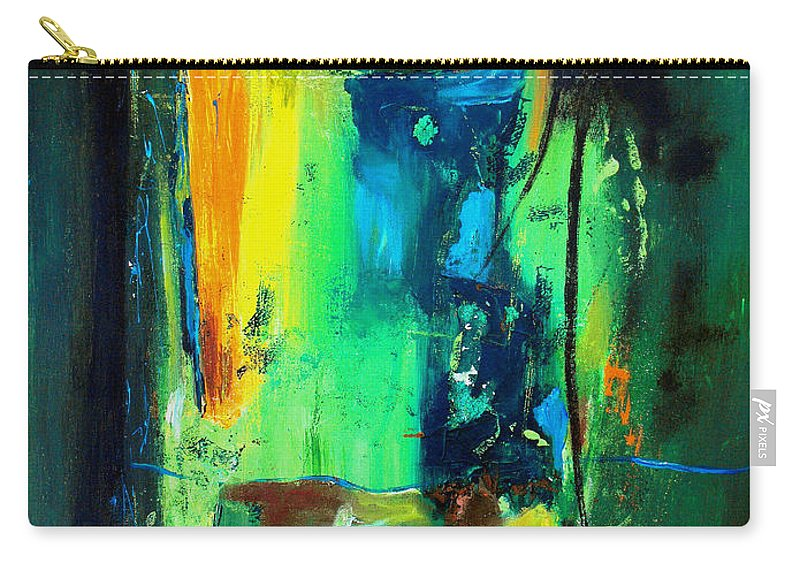 Abstract Carry-all Pouch featuring the painting Unity In The Body by Ruth Palmer