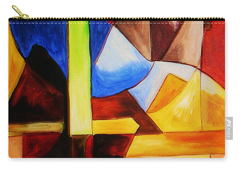 Acrylic Painting Carry-all Pouch featuring the painting Unity by Yael VanGruber