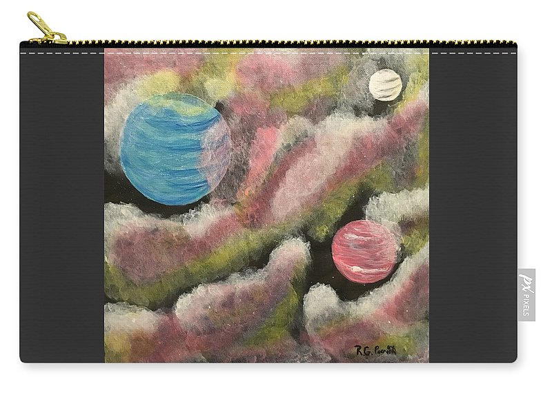 Planet Carry-all Pouch featuring the painting Universal by Rita Parrish