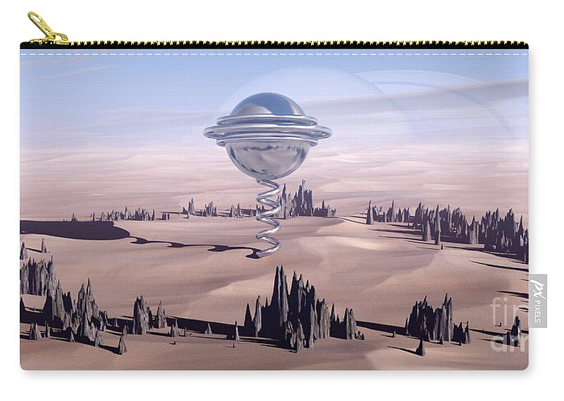 Surreal Carry-all Pouch featuring the digital art Universal Time by Richard Rizzo