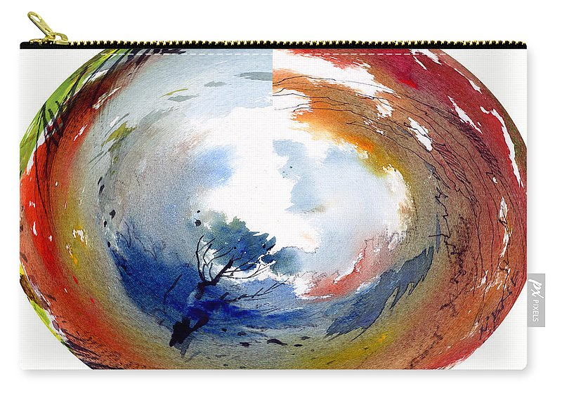 Landscape Water Color Watercolor Digital Mixed Media Carry-all Pouch featuring the painting Universe by Anil Nene