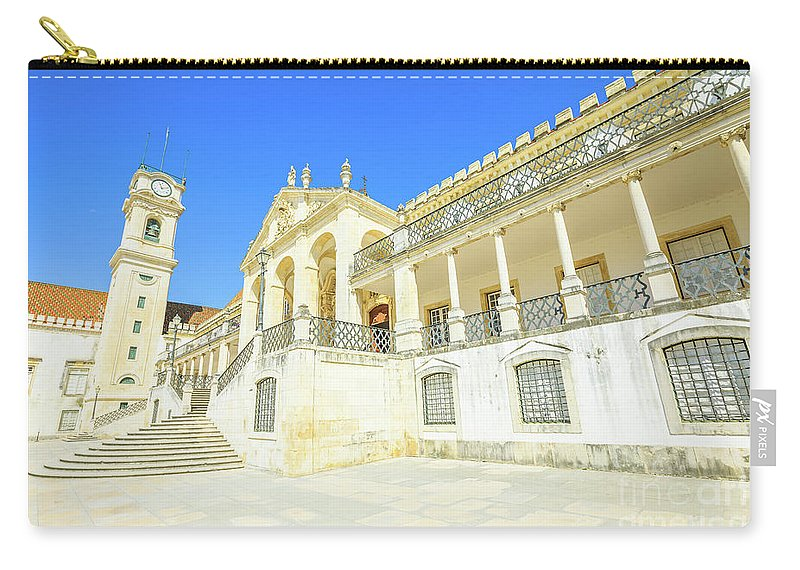 Coimbra Carry-all Pouch featuring the photograph University Of Coimbra by Benny Marty
