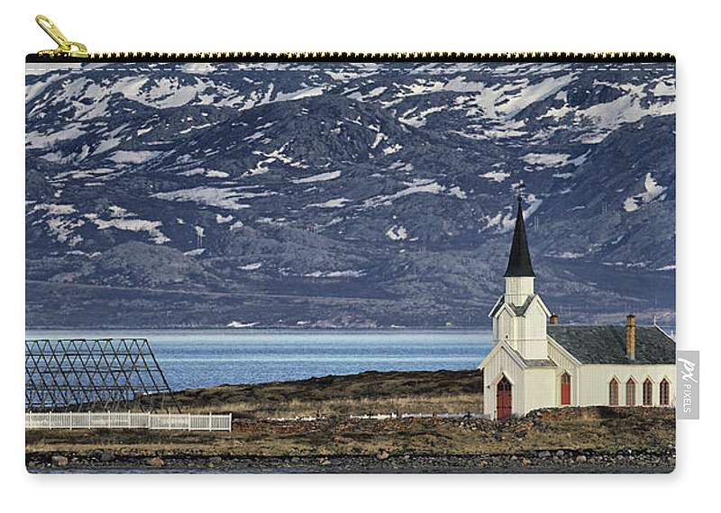 Church Carry-all Pouch featuring the photograph Unjarga-nesseby Church In Arctic Norway by Pekka Sammallahti