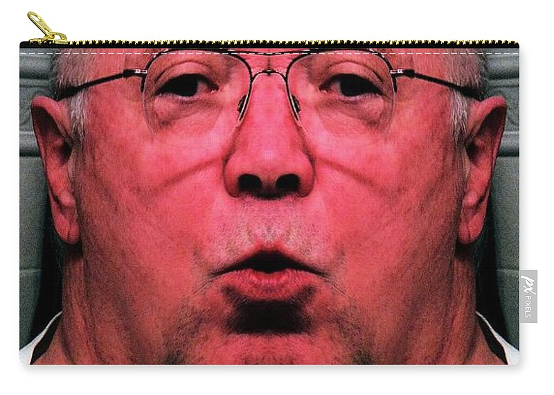 Steroid Portrait Carry-all Pouch featuring the digital art Unknowingly Steroidal by Ron Bissett
