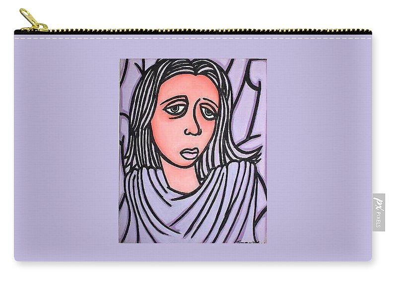 Portrait Carry-all Pouch featuring the painting Unknown by Thomas Valentine