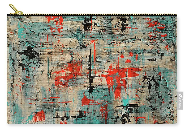 Abstract Carry-all Pouch featuring the painting Unleashed by Jim Benest