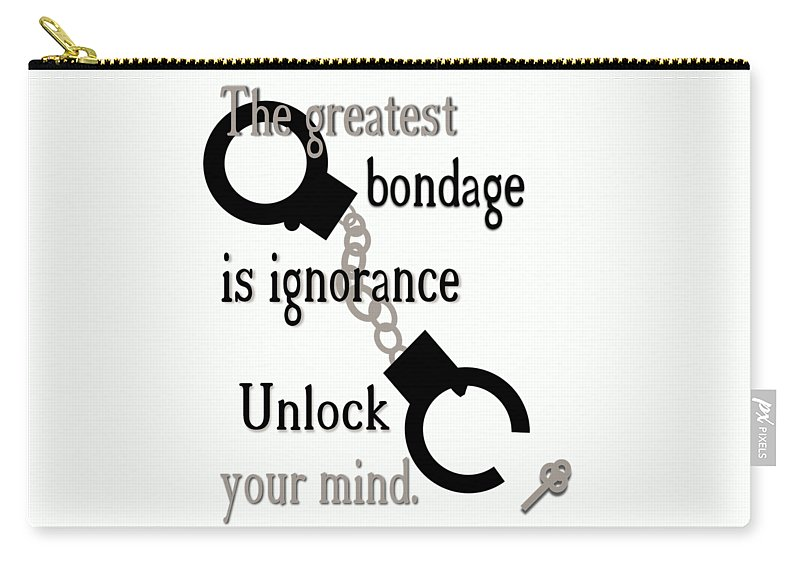 Ignorance Carry-all Pouch featuring the digital art Unlock Your Mind by Pharris Art