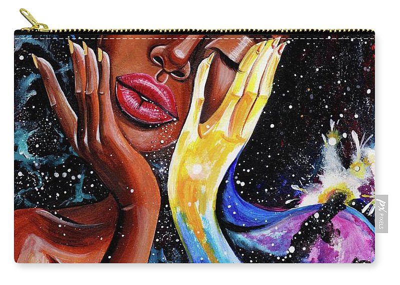 Universe Carry-all Pouch featuring the painting Unlocked U.Never.See.All by Artist RiA
