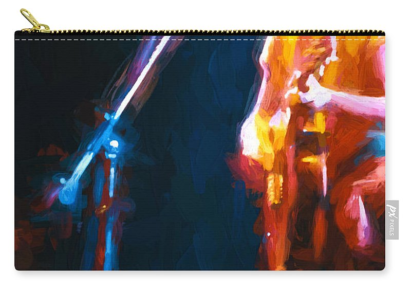 Music Carry-all Pouch featuring the painting Unplugged by Bob Orsillo
