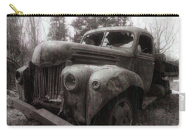 Truck Carry-all Pouch featuring the photograph Unquiet Slumbers For The Sleeper by Jerry LoFaro