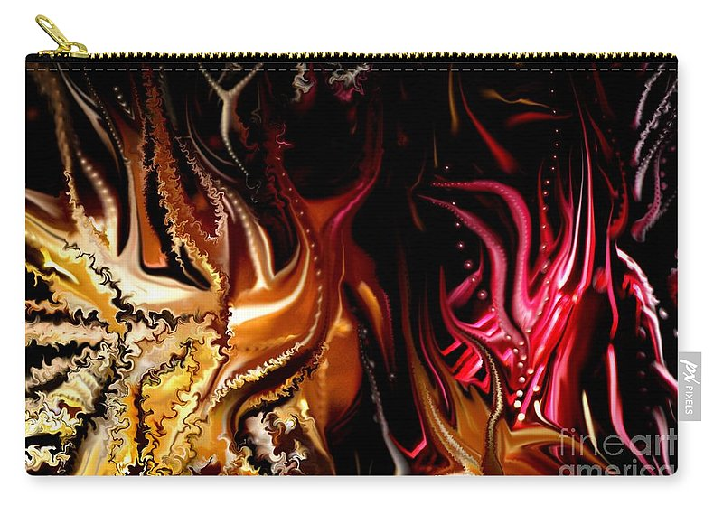 Abstract Carry-all Pouch featuring the digital art Until The End by David Lane