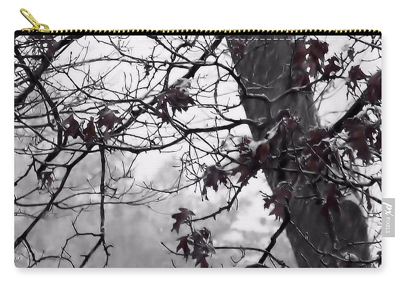 Oak Leaves Carry-all Pouch featuring the photograph Until The Last Leaf Falls by Roxy Riou