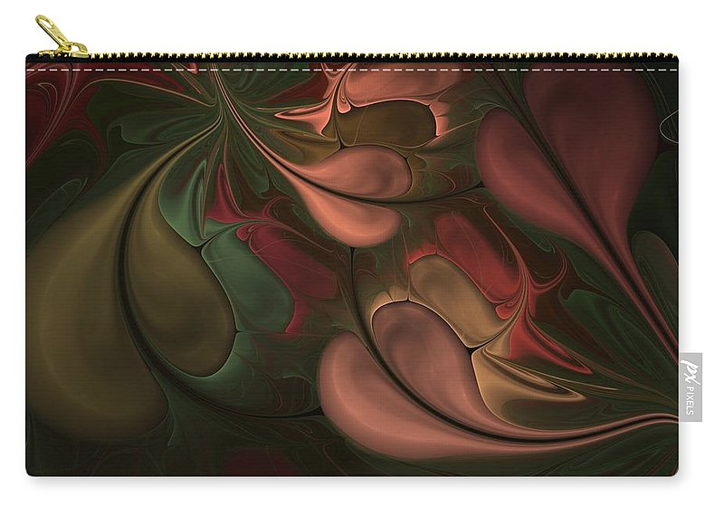 Digital Painting Carry-all Pouch featuring the digital art Untitled 01-26-10 Earth Tones by David Lane