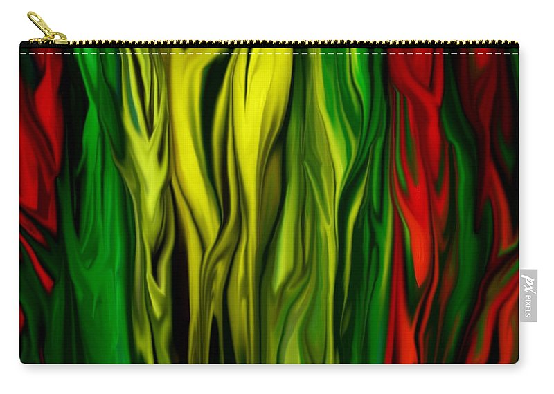 Digital Painting Carry-all Pouch featuring the digital art Untitled 01-31-10 by David Lane