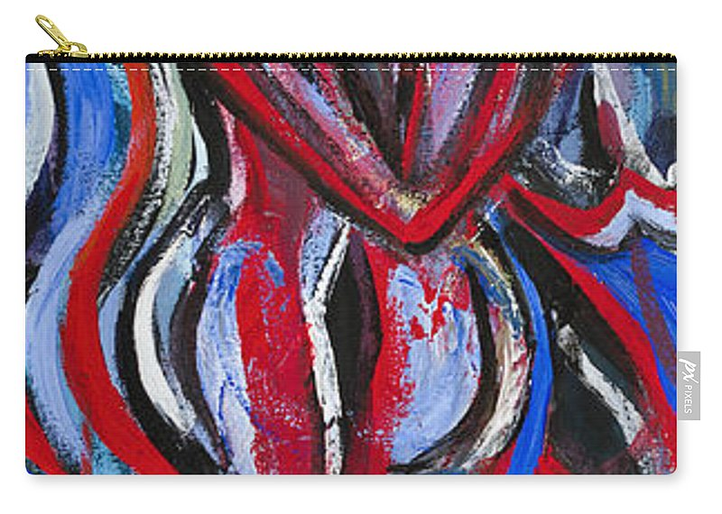 Dancing Carry-all Pouch featuring the painting Bailando-01 by Larissa Oksman