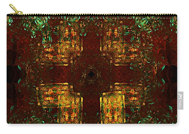 Fine Art Carry-all Pouch featuring the digital art Untitled 031811 by David Lane