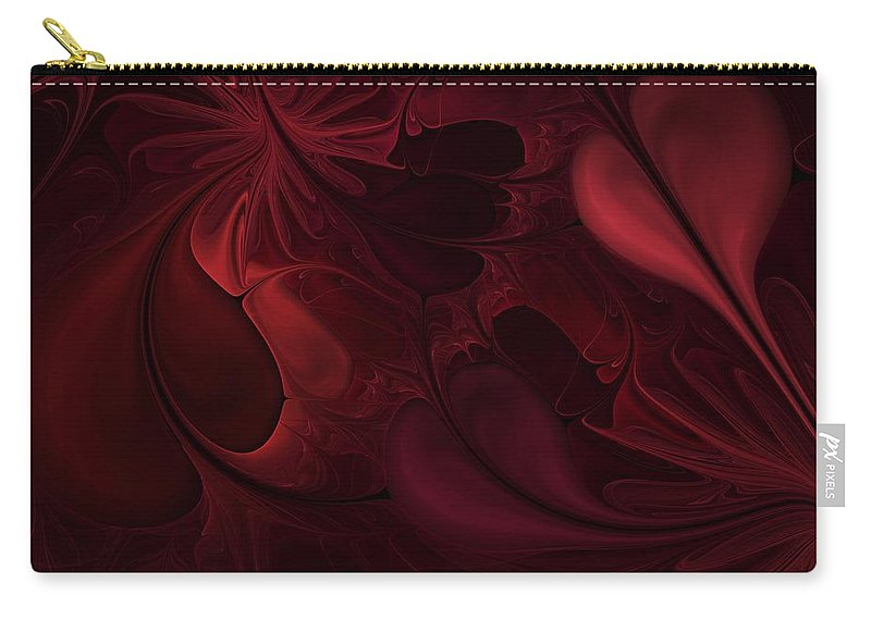 Digital Painting Carry-all Pouch featuring the digital art Untitled 1-26-10 Reds by David Lane