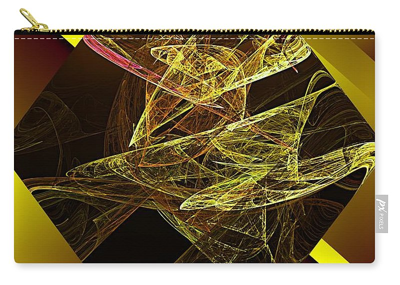 Abstract Digital Painting Carry-all Pouch featuring the digital art Untitled 11-06-09 by David Lane