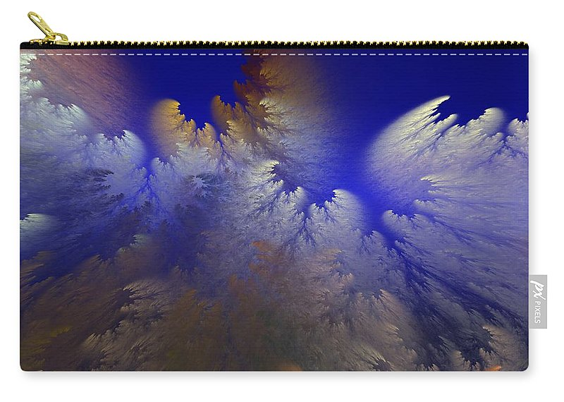 Abstract Digital Painting Carry-all Pouch featuring the digital art Untitled 11-1-09 by David Lane