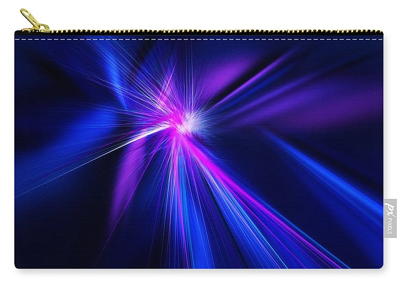 Abstract Digital Painting Carry-all Pouch featuring the digital art Untitled 11-18-09 by David Lane