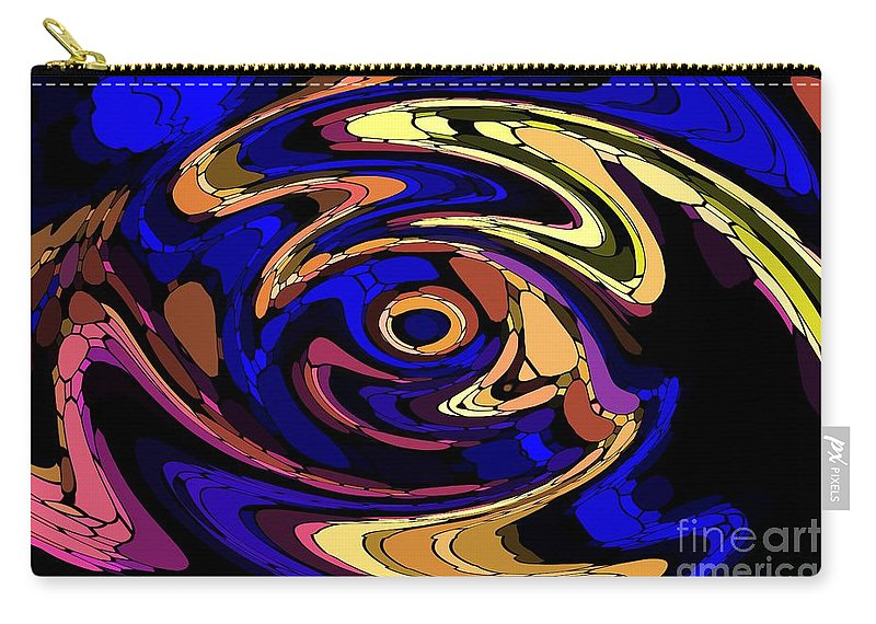 Abstract Carry-all Pouch featuring the digital art Untitled 7-04-09 by David Lane
