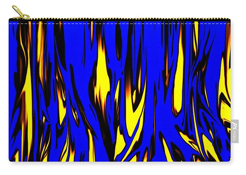 Abstract Carry-all Pouch featuring the digital art Untitled 7-21-09 by David Lane