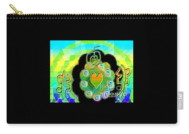 Reiki Symbol Art Carry-all Pouch featuring the digital art Untitled 8 Reiki Symbol by Rizwana A Mundewadi