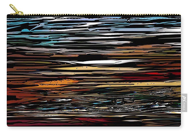 Abstract Digital Painting Carry-all Pouch featuring the digital art Untitled 9-12-09 by David Lane