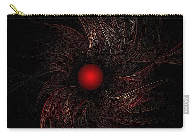 Abstract Digital Painting Carry-all Pouch featuring the digital art Untitled 9-20-09 by David Lane