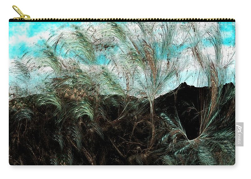Digital Photograph Carry-all Pouch featuring the digital art Untitled 9-26-09 by David Lane