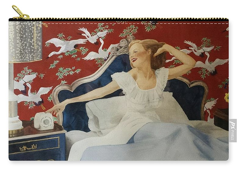 Portrait Carry-all Pouch featuring the painting Rise And Shine by David Corrigan
