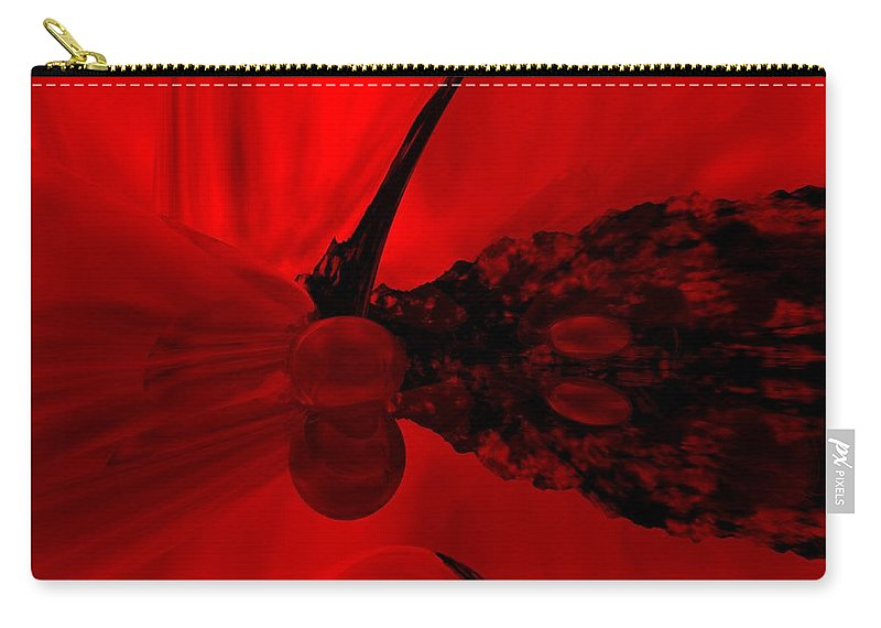 Abstract Carry-all Pouch featuring the digital art Untitled by David Lane