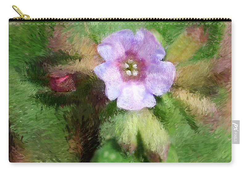 Digital Photo Carry-all Pouch featuring the photograph Untitled Floral -1 by David Lane